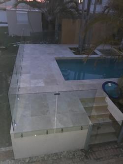 see thru clear glass pool fencing sunshine coast dicky beach install 5