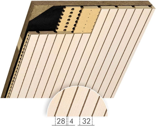 Topakustik Type 28/4 Acoustic Wood Sound Reduction