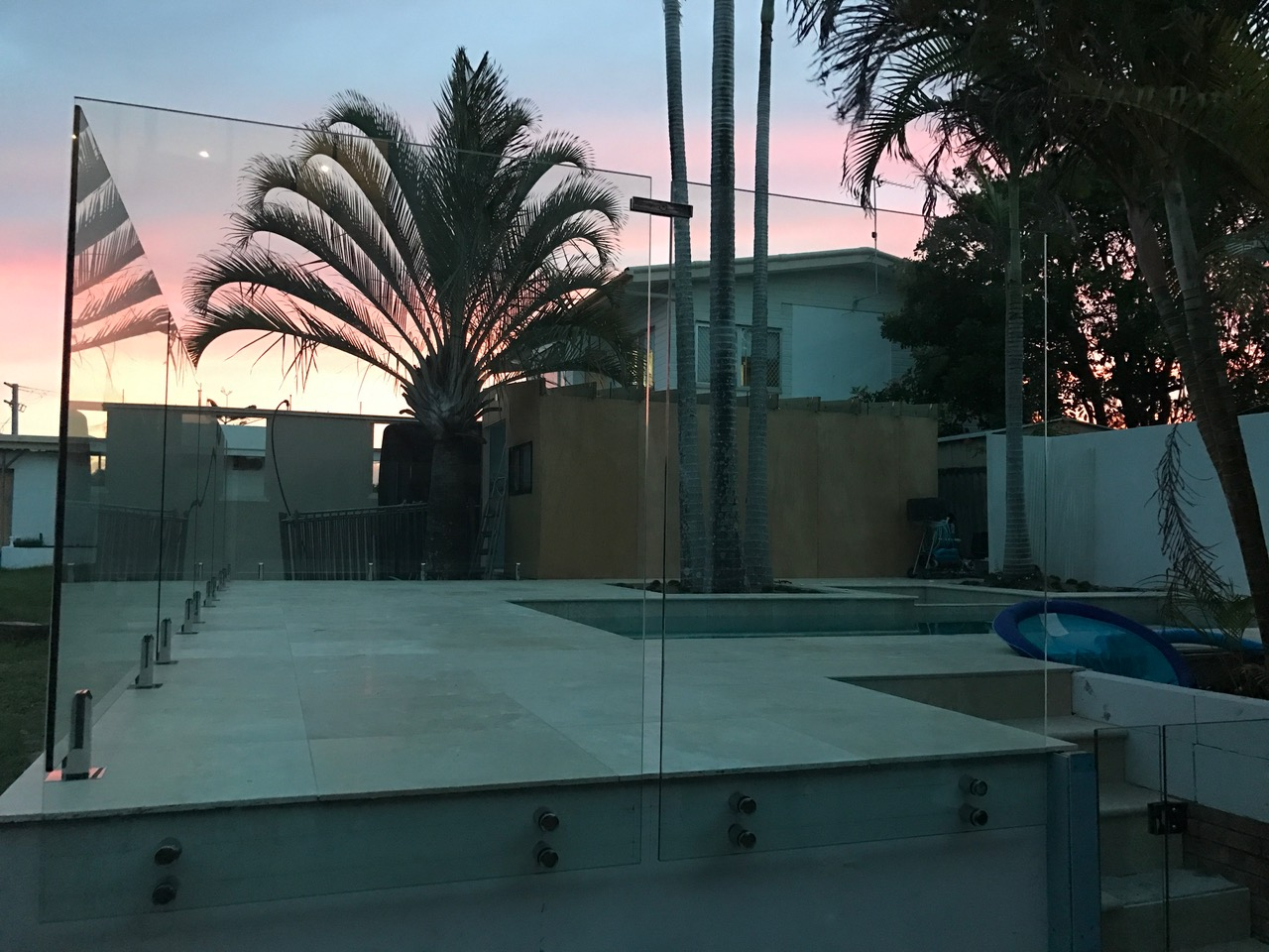 see thru clear glass pool fencing sunshine coast dicky beach install 1