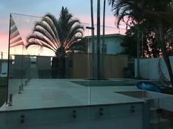 see thru clear glass pool fencing sunshine coast dicky beach install 1