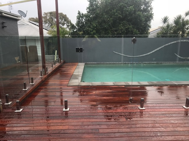 Frameless Glass See Thru Clear Fencing Sunshine Coast