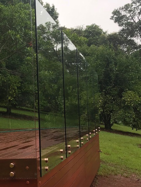 thumbnail_stand offs copper frameless Glass maleny
