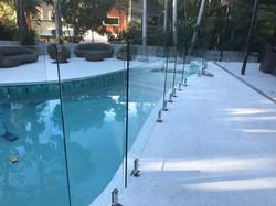 frameless glass pool fencing buderim