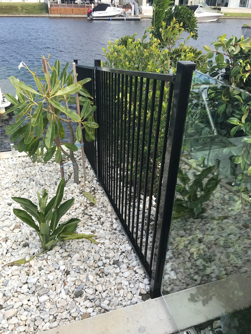 Aluminium and Glass pool fencing