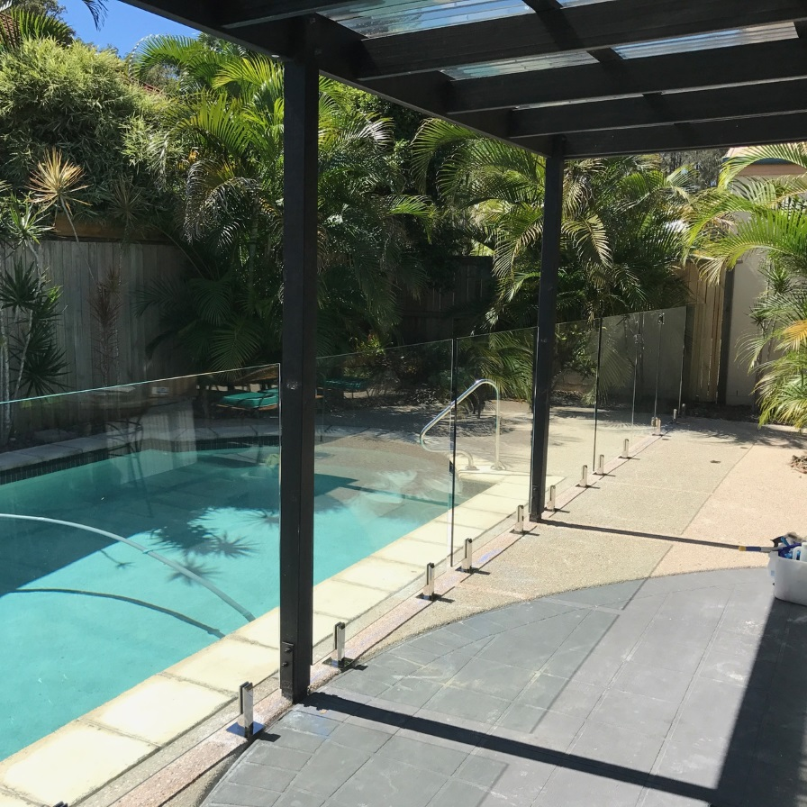 glass pool fencing sunshine coast twin waters