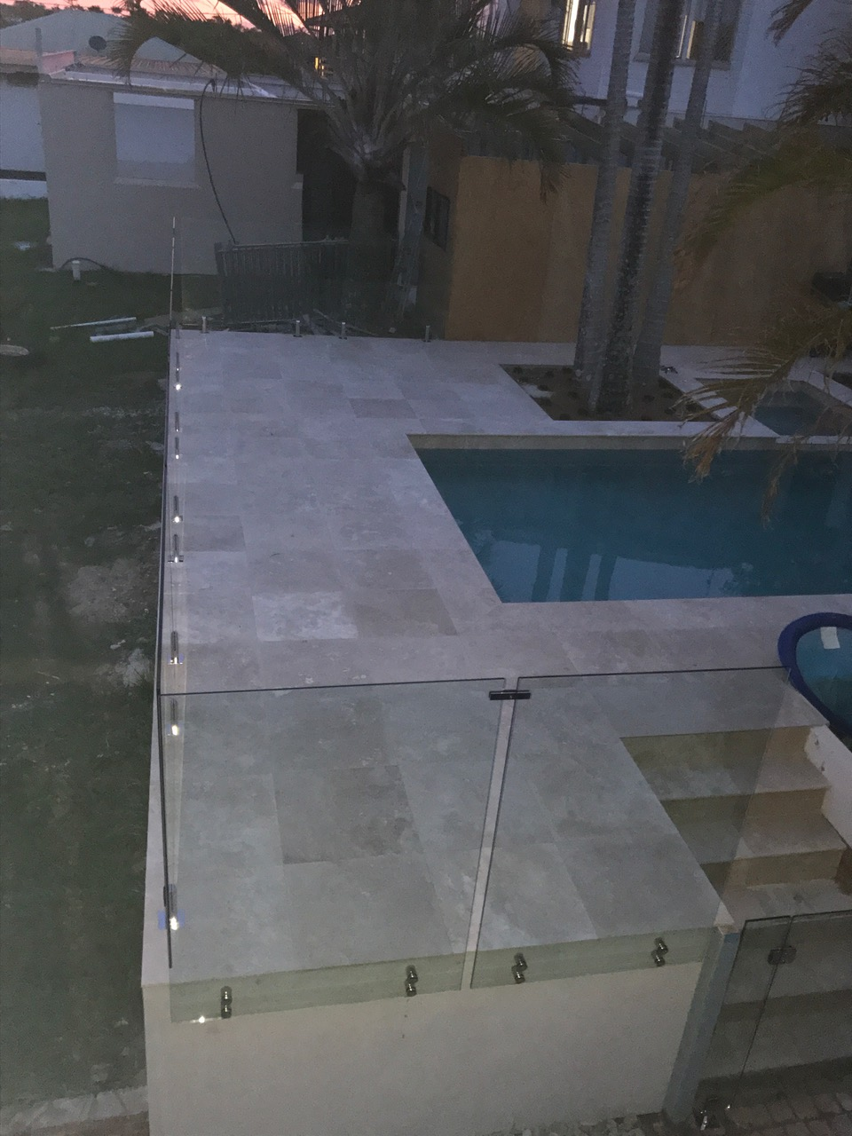 see thru clear glass pool fencing sunshine coast dicky beach install 6
