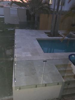 see thru clear glass pool fencing sunshine coast dicky beach install 6