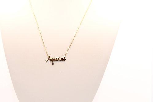 Zodiac Necklace (Gold)