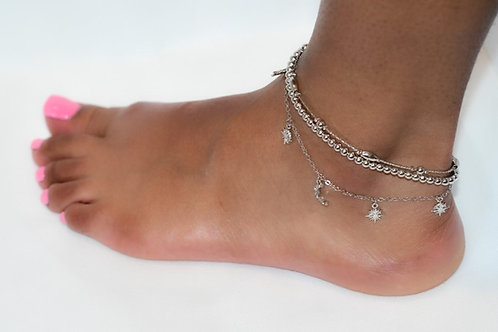 🌛Moon-Star🌟 Anklet