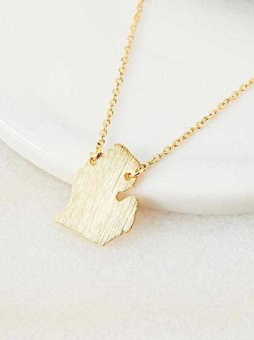 Michigan Mitten Necklace