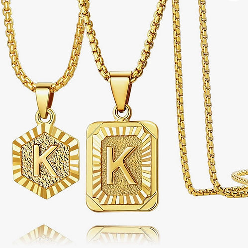 Double Layered Initial Necklace