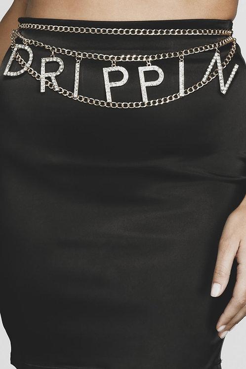 Drippin Chain Belt (Silver)