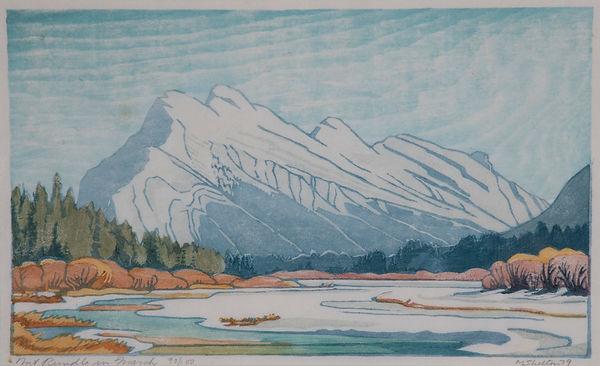 woodcut; colour linocut on paper