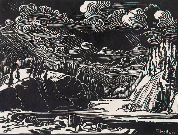 woodcut on paper