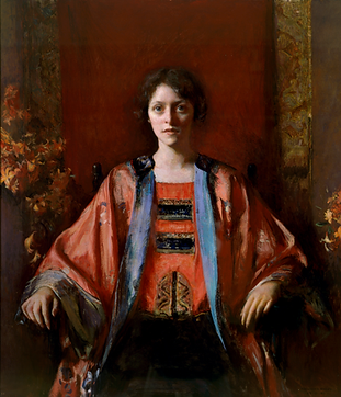 Image: Frederick Andrew Bosley (1881 – 1942, American), Untitled (Portrait of Catharine Robb), 1925, oil on canvas, 114.3 x 99.5cm, Gift of Catharine Robb Whyte, 1979, BoF.02.01