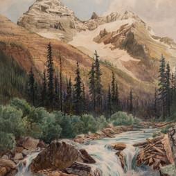 Mt. Sir Donald and IIllecillewaet River Glacier, B.C.