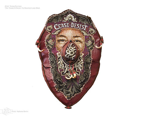 Teresa Burrows Cease & Desist: the Bearded Lady Mask