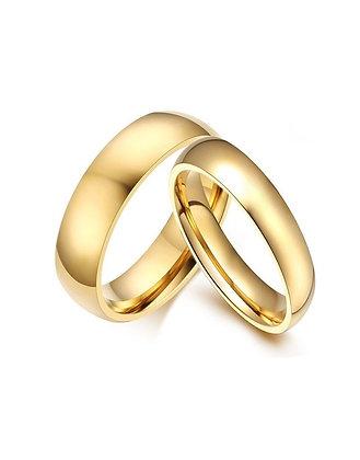 Argollas Compromiso Oro Amarillo 9Kt
