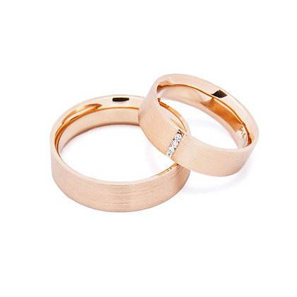 Argollas Compromiso Oro Rosa 18Kt