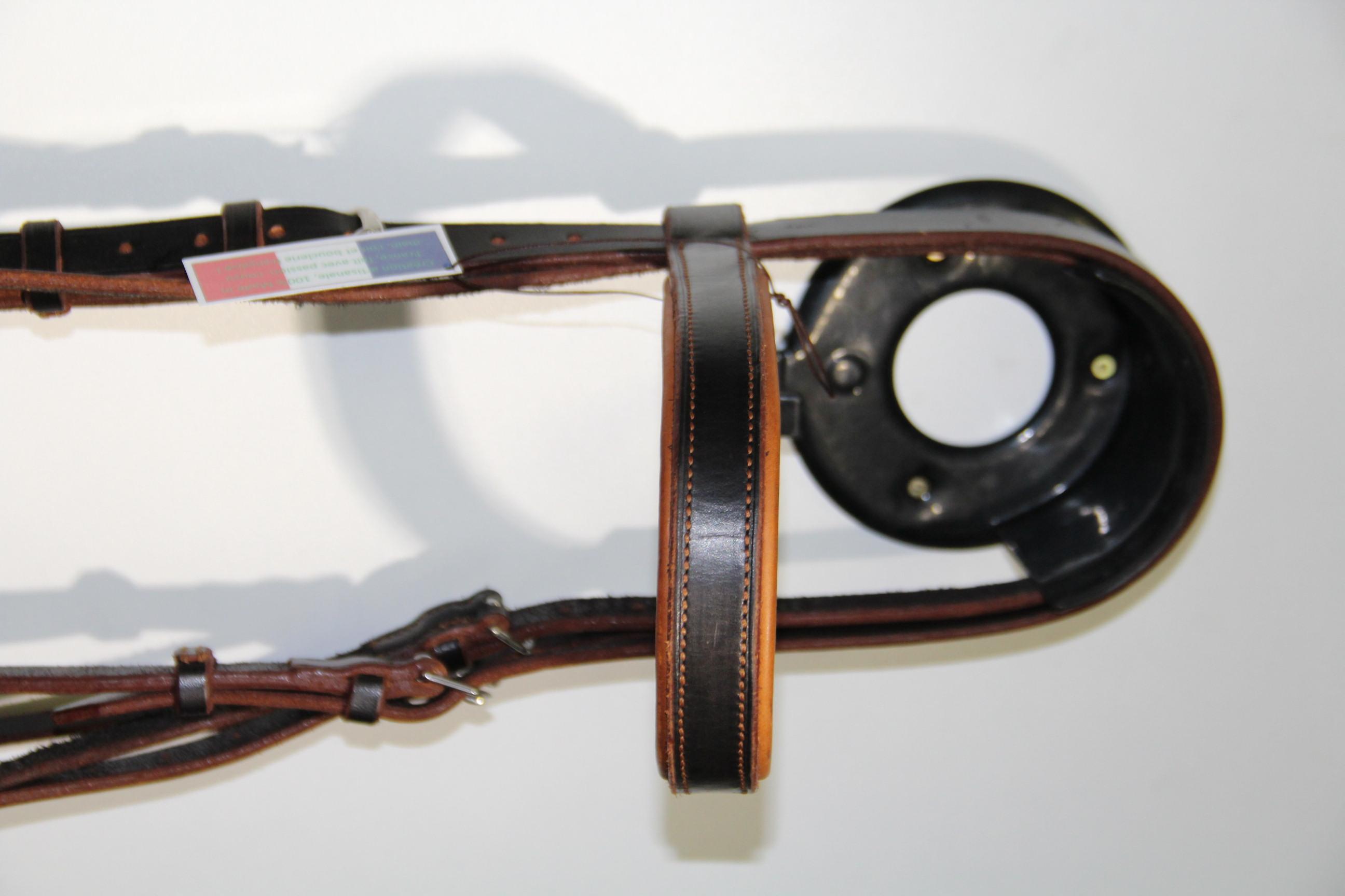 Détail Bridon bi-ton, noir & marron