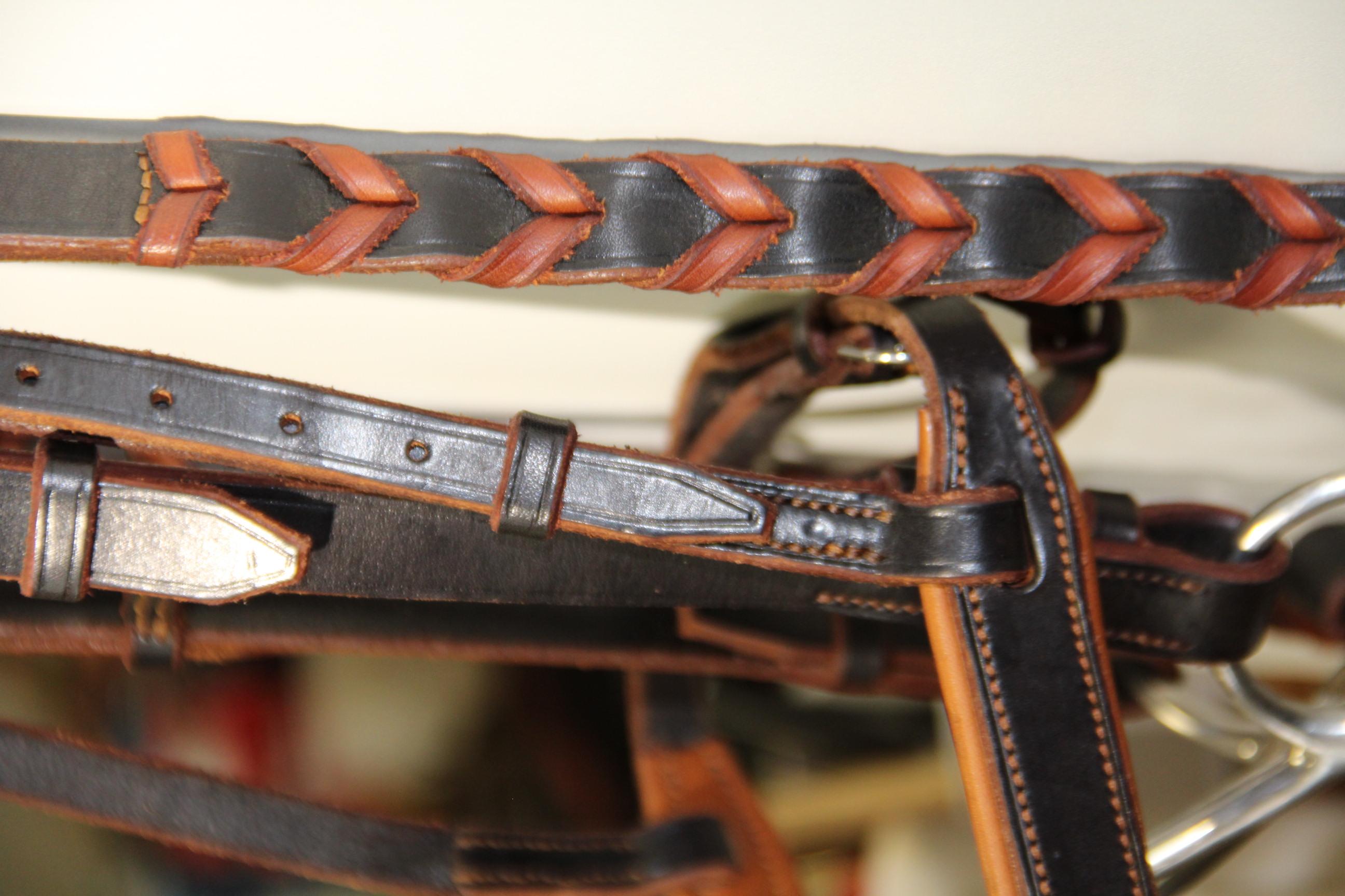 Bridon bi-ton, noir et marron