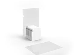 WHITE BREAD PAPER HOLDER