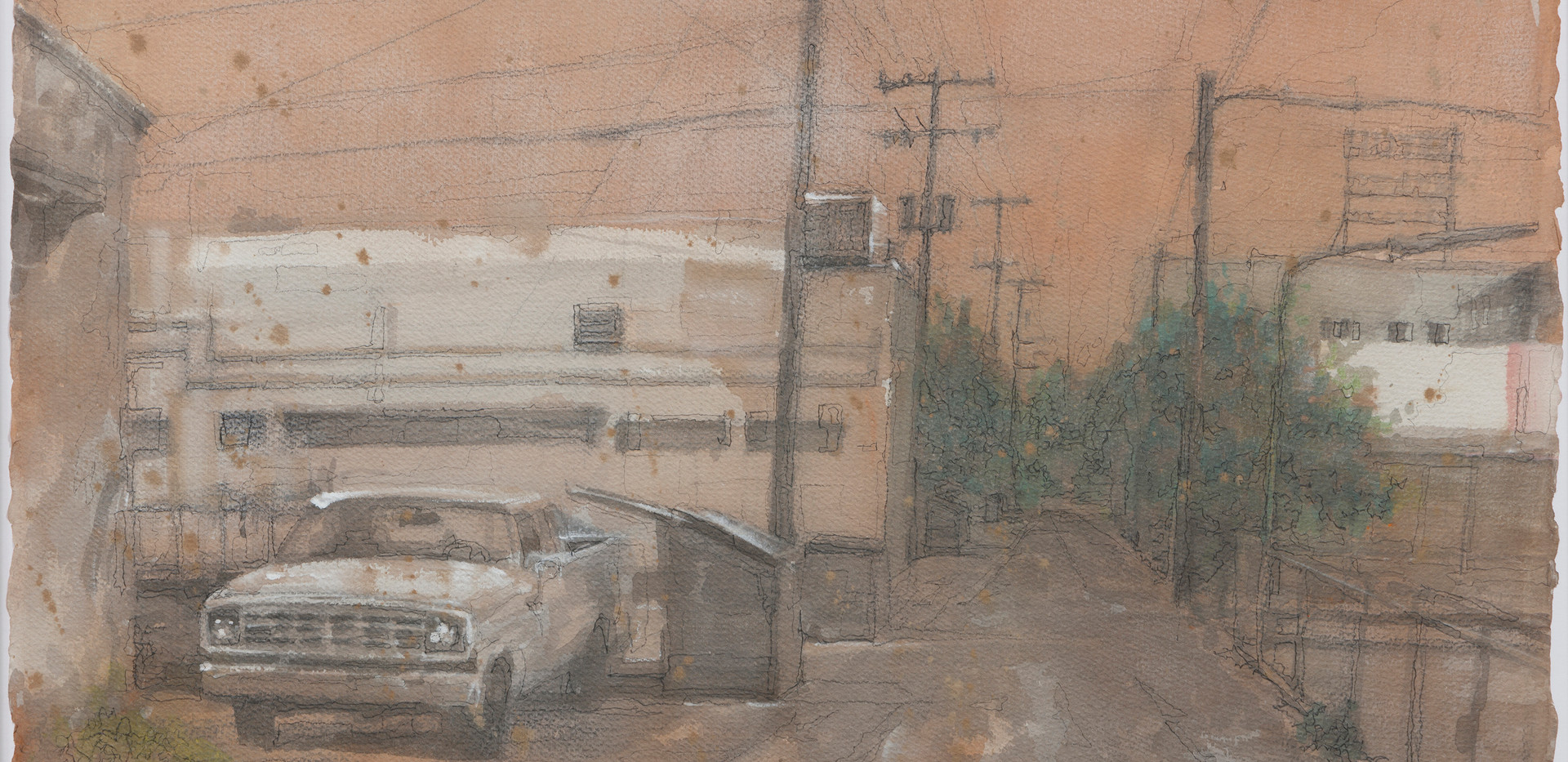The Alley, 38.5x57cm, watercolor on pape