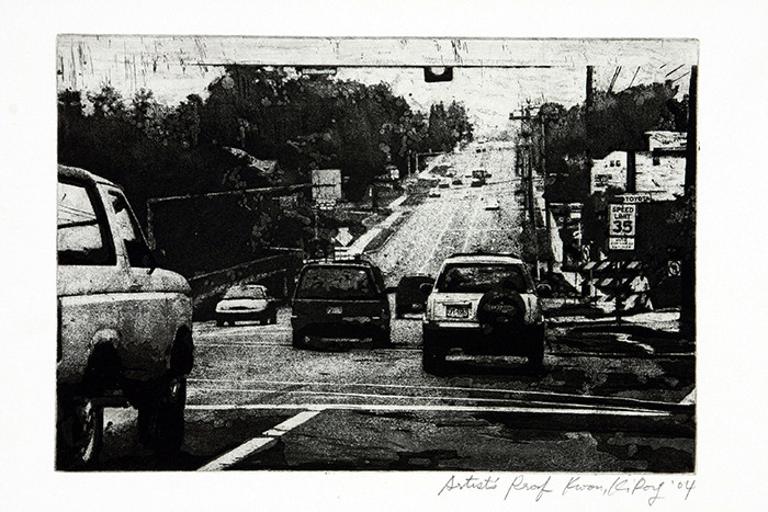 On the road-Atherton Street
