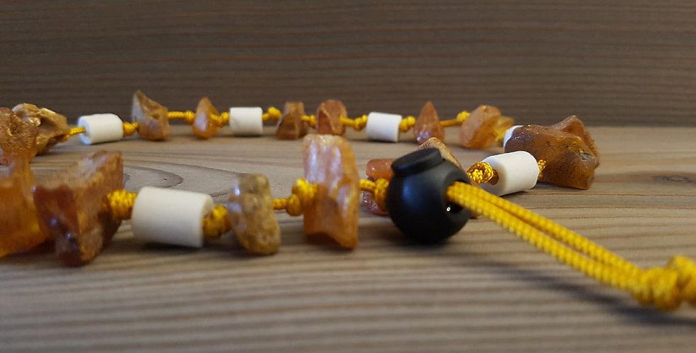 Hunde Bernstein/EM-Keramik Halsband