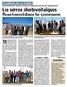 Inauguration de 37 000 m3 de serres agricoles photovoltaïques à Villeneuve le Rivière (66)