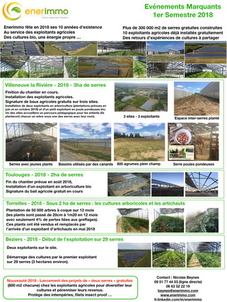 Enerimmo - Newsletter 2018                Faits Marquants