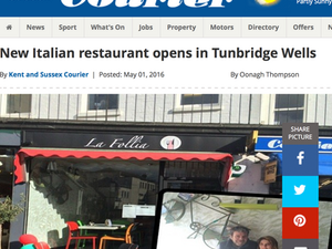 New Italian Restaurant - In Tunbridge Wells