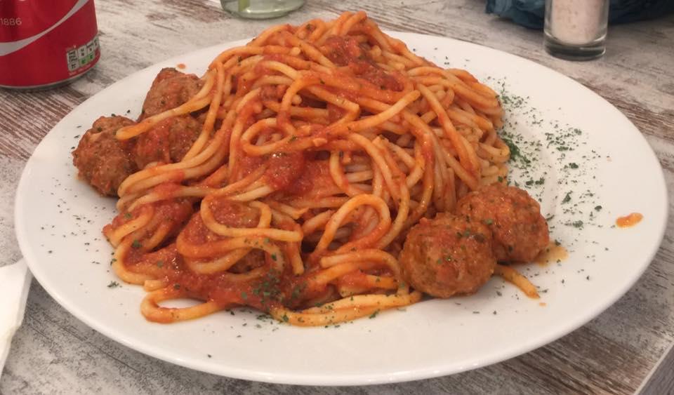 La Follia spaghetti and meatballs