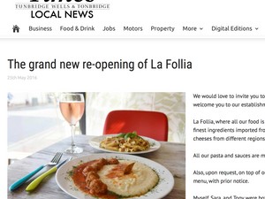 La Follia in The Times Of Tunbridge Wells