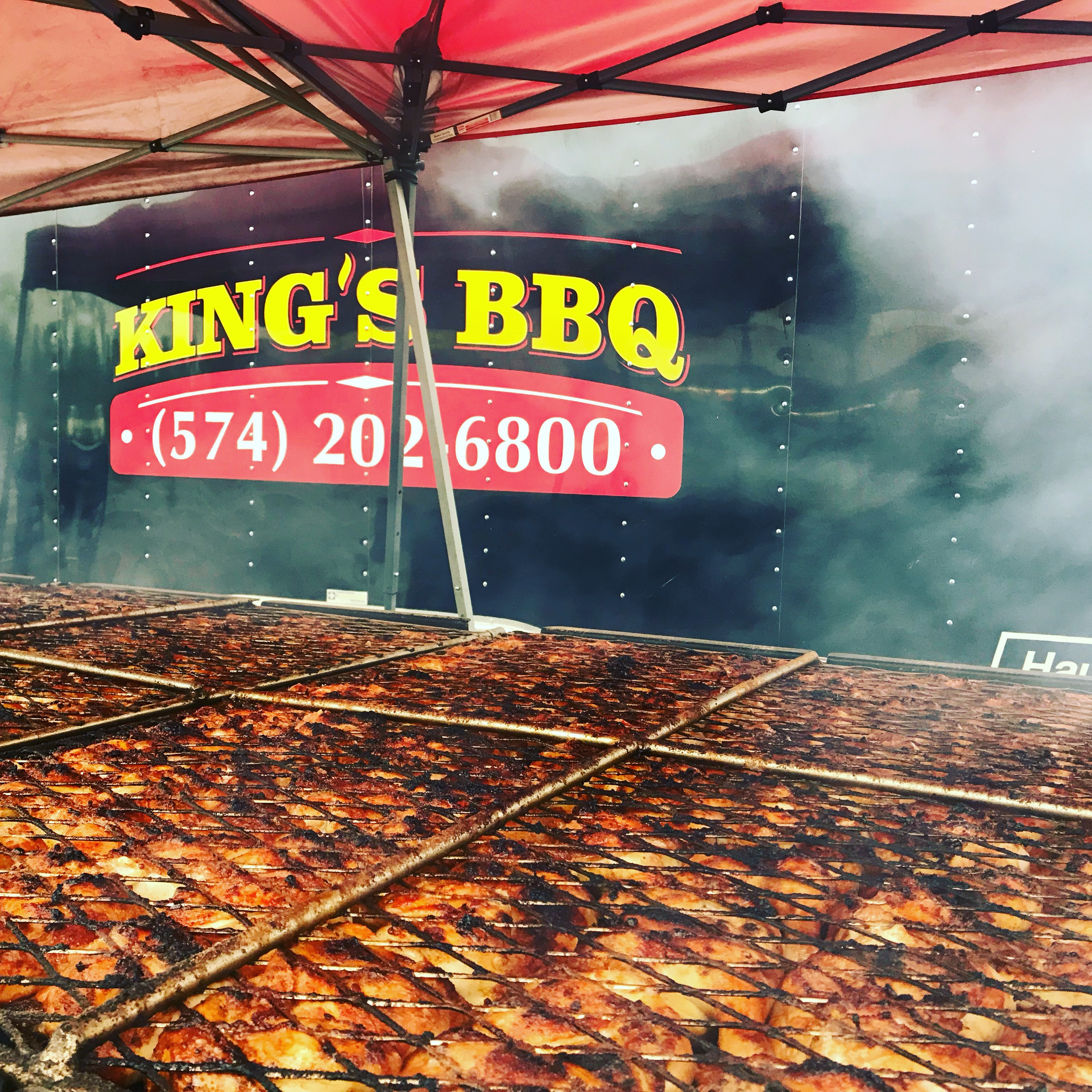 King's BBQ at a fundraiser