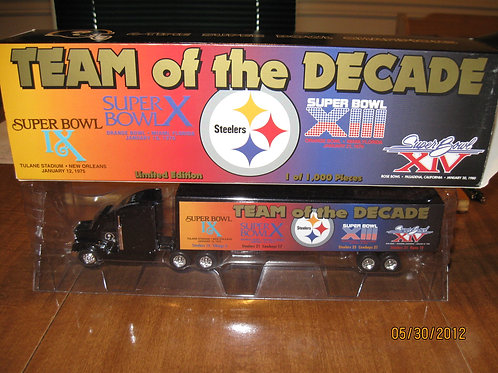 1997 Pittsburgh Steelers Team of The Decade Tractor Trailer