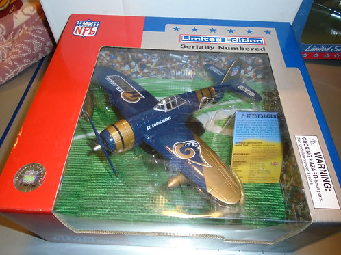 2002 ST. Louis Rams P-47 Airplane