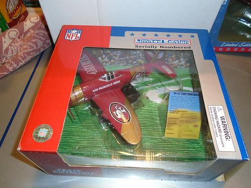 2002 San Francisco 49ers P-47 Airplane