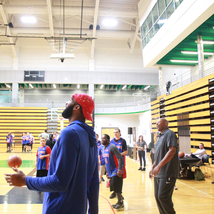 Andre leading shooting drill