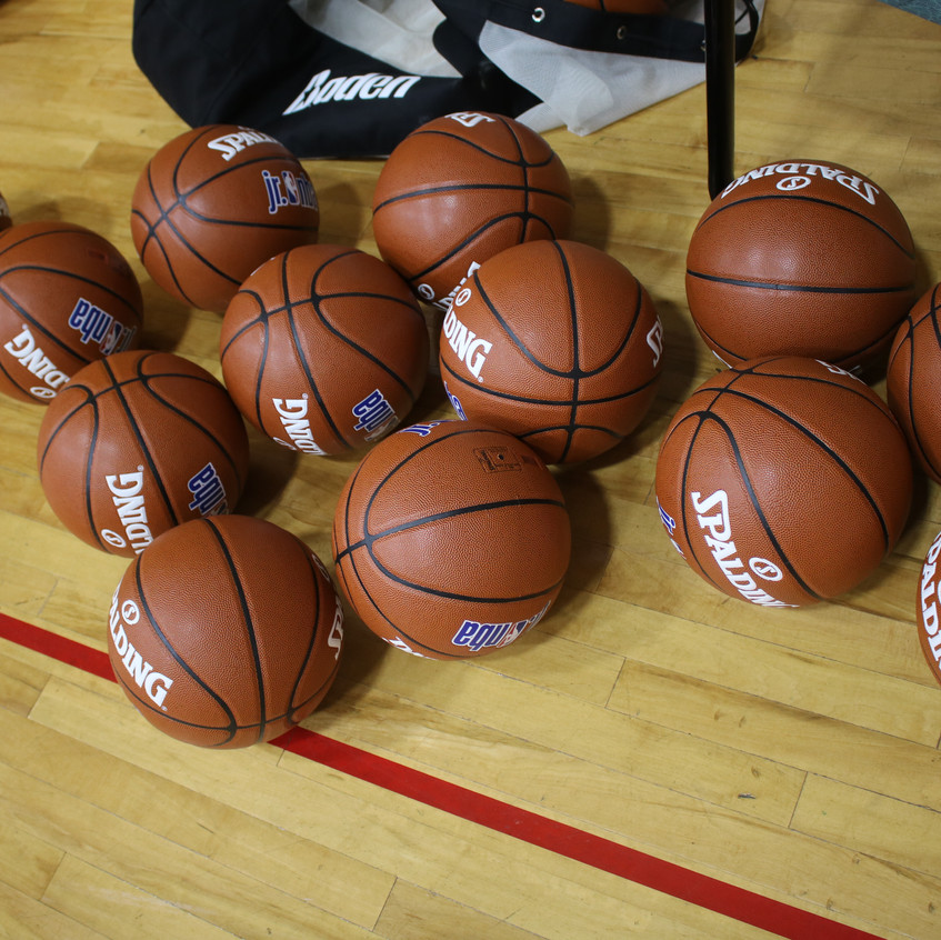 Each young athlete was given their own basketball to take home and continue practicing.