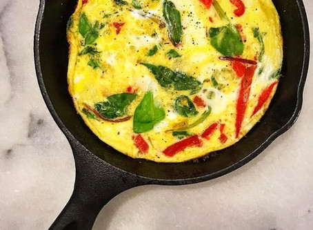 RED PEPPER, SPINACH & BASIL FRITTATA