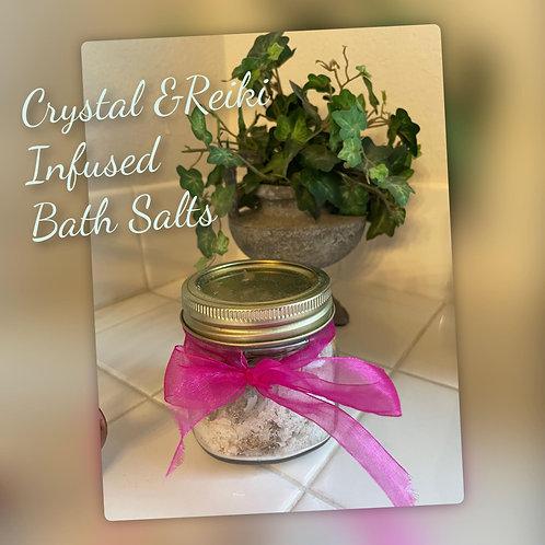 Alignment Bath Salts Infused with Herbs, Moon Energy & Reiki Energy