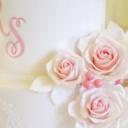 Blush pink sugar roses