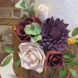 Plum Dhalia and roses