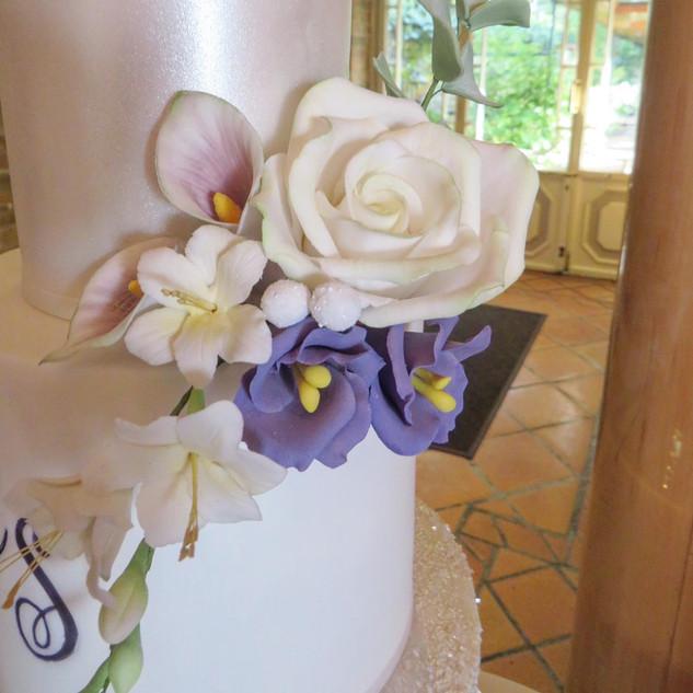 Lisianthus, roses,fressia and cala lilli
