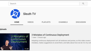 Sleuth has a YouTube channel: Introducing Sleuth TV!