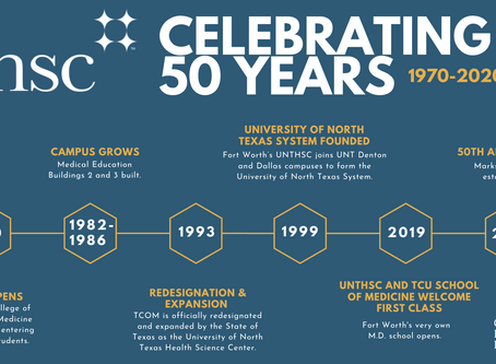 Cheers to 50 Years of UNTHSC!