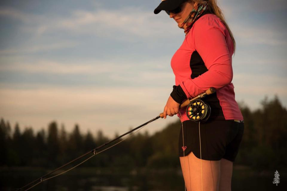 Alyssa Lloyd fly fishing