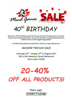 40th Birthday Sale!!