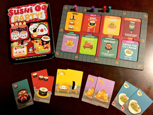 Sushi Go Party is back on the shelves, and it's our game of the week !